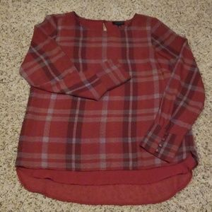 Like New The Limited Plaid Blouse